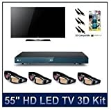 "LG - 55LX9500 - 55"" 1080p 480Hz HD LED 3D TV, Slim w/ Local Dimming, THX Certified Display, NetCast Entertainment Access (Wi-Fi Ready), Includes 3D Kit"