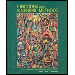 img - for Functions and Algebraic Methods book / textbook / text book