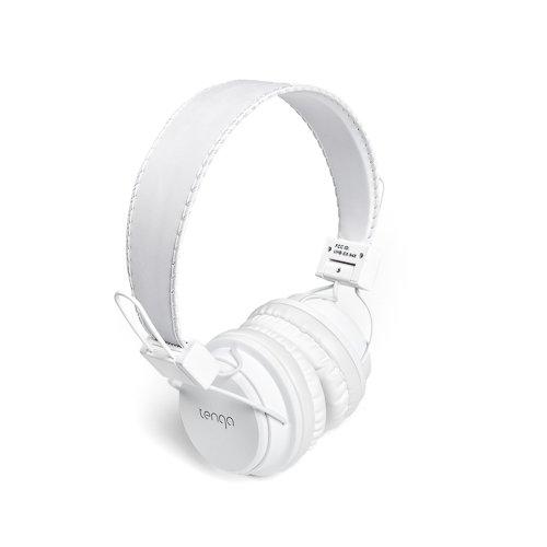 Tenqa Remxd-Wht Wireless Bluetooth Headphones, White