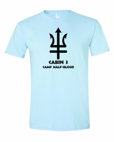 Men'S Cabin 3 Camp Half Blood T-Shirt-Light Blue-Large