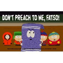 South Park &quot;Don't Preach To Me, Fatso&quot; Keychain