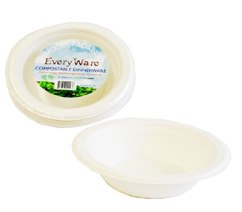 Ifn Green 51-2012 Everyware Compostable Bagasse Bowl, 12 Oz Capacity, White (Pack Of 144)