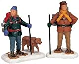 Best Price  Lemax Snowshoe Backpackers set of 2 Poly-resin figurines (12496)