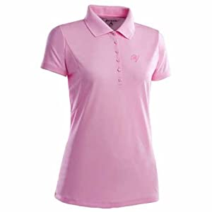 Tampa Bay Buccaneers Ladies Pique Xtra Lite Polo Shirt (Pink) by Antigua