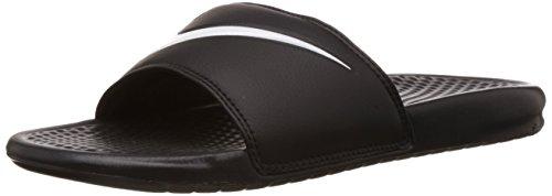 NikeBenassi Swoosh - Pantofole uomo, Nero (Black (Black/White 011)Black/White 011), 44 EU
