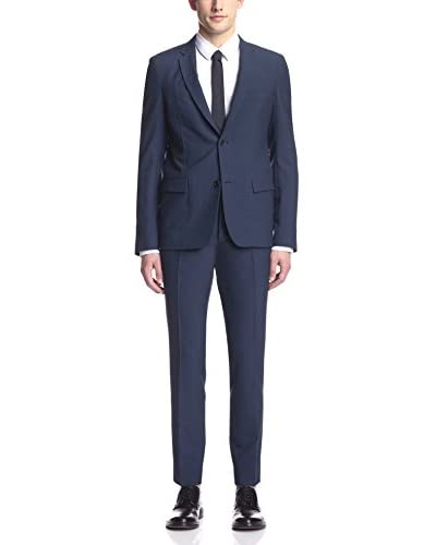 Jil Sander Men's Seersucker Check Slim Suit