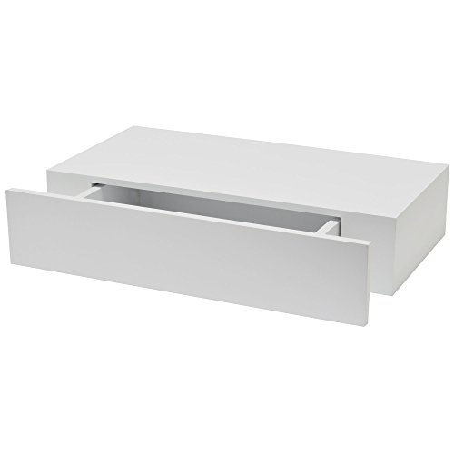 Schwebendes Wandregal mit Schublade-B!Organised, 1 Stück, weiß, 1173877