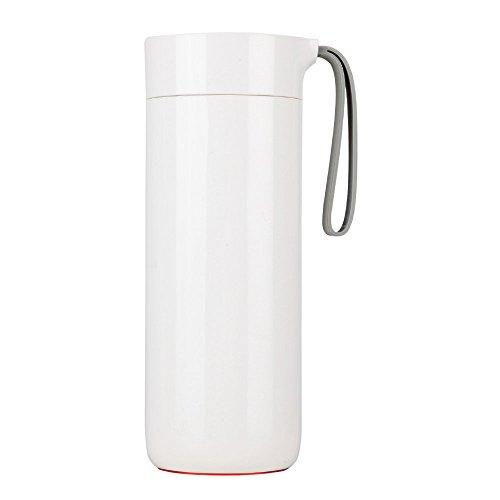 GBB 倒れない保温マグ ケータイ水筒 スマートカップ 真空断熱 ダブルステンレス鋼ライナー400ml JD029