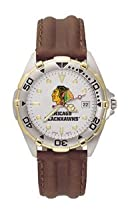 Chicago Blackhawks All Star Leather Mens Watch