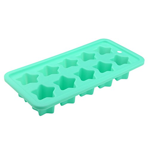 Zodaca Food Grade Silicone Stars Shape Candy Molds Ice Cube Trays for DIY Making Homemade Chocolate, Jelly, Gummy & Soap,