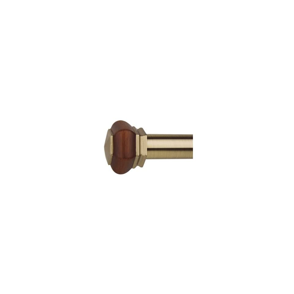 Versailles Home Fashions Titan EX Imperial Resin Finial Rod Set 48 to 86 Antique Brass TO248 82