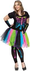 [Funky Punk Bones Plus Adult Costume PROD-ID : 1919604] (Funky Punk Bones Adult Costumes)