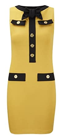 Button Front Dress HB1E Mustard 12 (2.99)