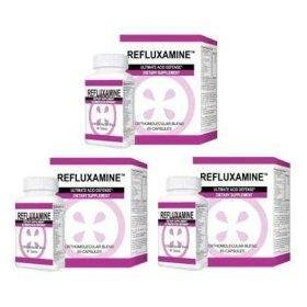 Refluxamine Natural Acid Relief (3) Bottles (60 Capsules in each bottle)