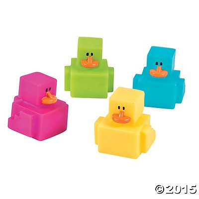 Mini Digi Tech Inspired Rubber Duckies - 24 ct