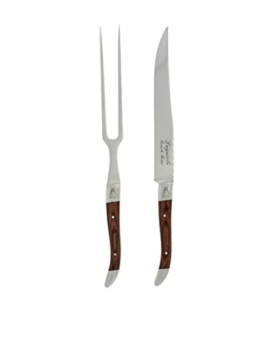 French Home 2-Piece Laguiole Pakkawood Carving Set, Wood
