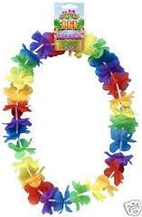 12 x hawaiian lei neck garlands, party bag filler, fancy dress, beach party adults or kids
