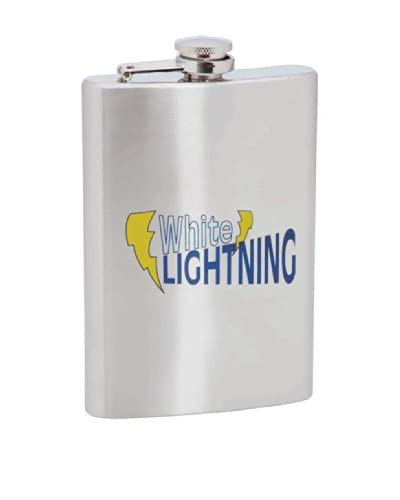 White Lightning Stainless Steel Flask