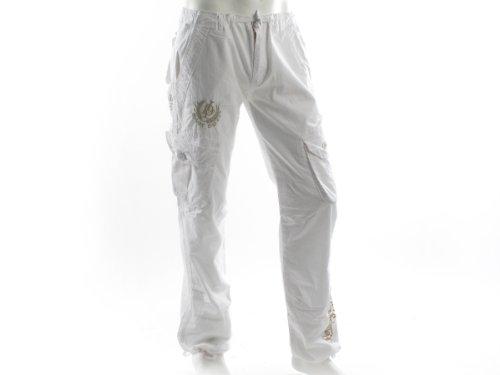 Lenny&loyd 10154cheyenne Loose White Man Trousers Men - 46