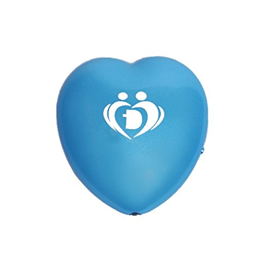 Onairmall® Olf-618 New Style Portable Mini Heart Shape Air Purifier Ozonizer Pendant-Ion Generator - Blue front-607272