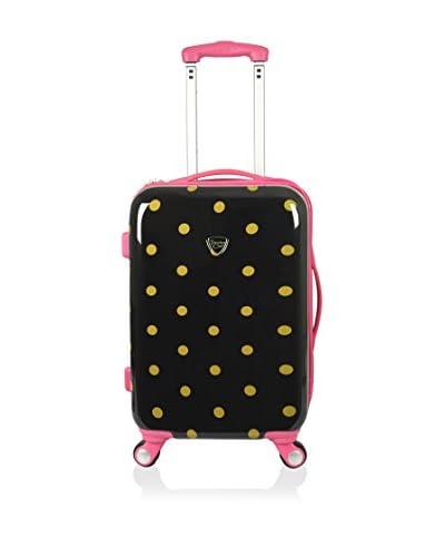 "Travelers Club Modern 20"" Hardside Expandable Carry-On Spinner, Polka Dot"