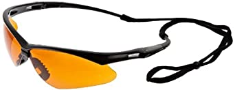 Jackson Safety V30 Nemesis Copper Blue Shield Lens Safety Eyewear with Black Frame (Case of 12)