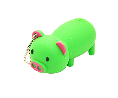 FEBNISCTE Lovely Green Pig 8GB USB 2.0 Flash Disk Pendrive (1000 Usb Flash Drive compare prices)