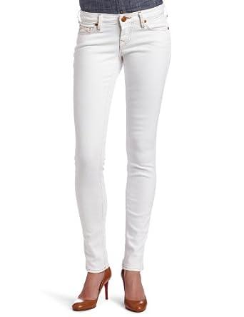 True Religion Women's Shannon Lonestar Traditional Rise Straight Leg Jean, Optic White, 23