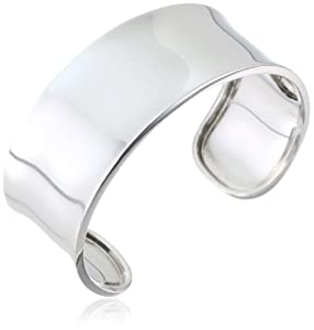 Sterling Silver Wide Polished Cuff Bracelet from Amazon Curated Collection