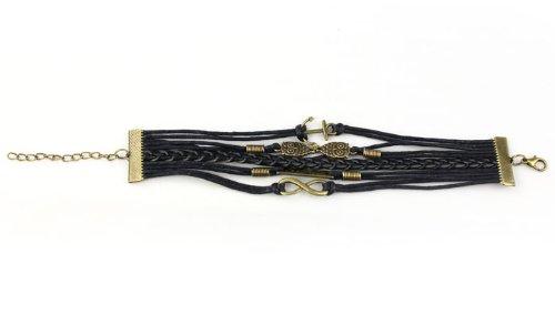 Pooqdo-TM-Hot-Vintage-Antique-Bronze-Anchor-Rudder-Owl-Charms-Leather-Rope-Bracelet-Wristband