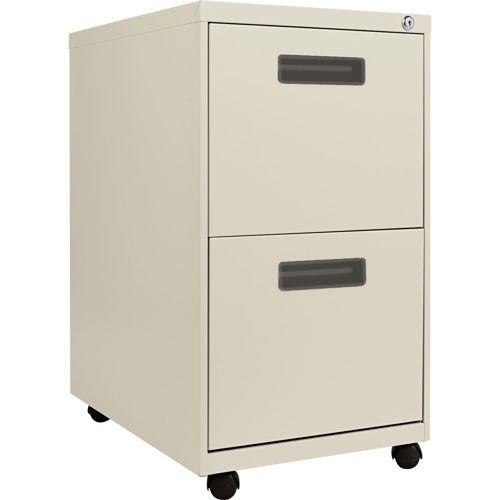 "Alera 2-Drawer Mobile Pedestal File 23-1/4""D Putty"