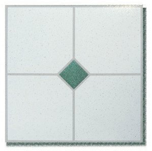 45 pieces 12x12 vinyl stick on tiles with green single for 12x12 vinyl floor tile