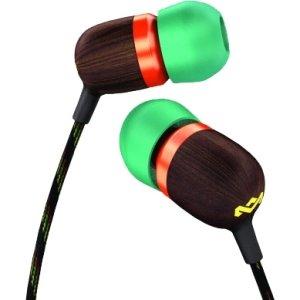 House Of Marley Em-Je000-Ra Jammin In Ear Headphone Rasta W/ Carry Bag And Ear Tips