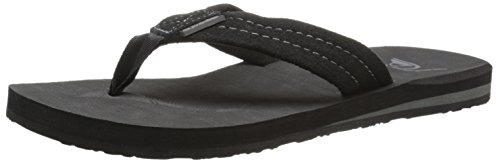 quiksilver-mens-carver-suede-3-point-sandal-solid-black-9-m-us