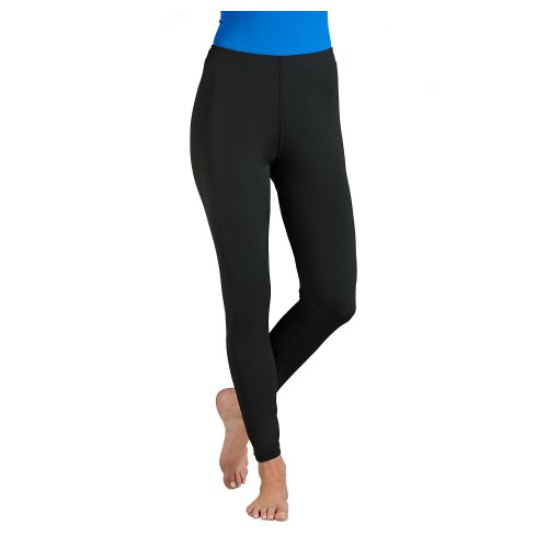 6283f4461ff44 Products Feature : Coolibar UPF 50 Women s Swim Tights Sun Protective Large  Black