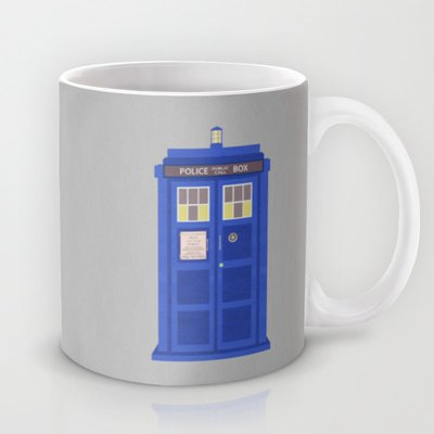 Society6 - Construction Paper Tardis Coffee Mug By Justin Cybulski