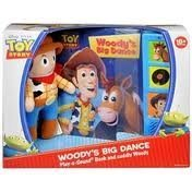 Toy Story Woody's Big Dance Play-a-sound Book and Cuddly Woody - 1