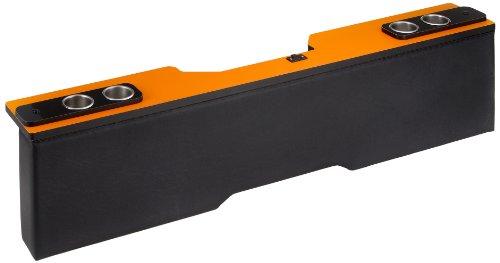 200系 ハイエース1~4型対応 XYZ セカンドテーブル 傘立て付き S-GL ワイドボディ 天板オレンジ 【簡単取り付け】 stkw-o