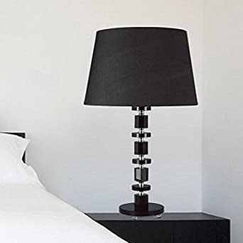 modern contemporary black cystal steps tischleuchte nachttischlampe schwarz. Black Bedroom Furniture Sets. Home Design Ideas