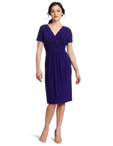 Evan Picone Women's Matte Jersey Tulip Hem Dress
