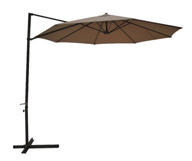 southern sales round offset patio umbrella 10 polyester taupe overview