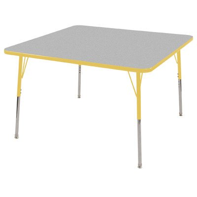 Ecr4kids t mold 30 square adjustable activity table standard legs with self leveling swivel - Table glides for legs ...