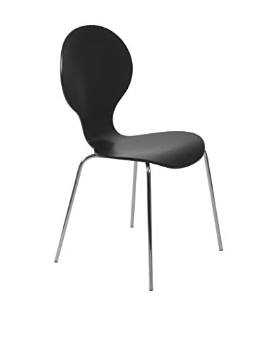 Euro Style Bunny Stack Chair, Black