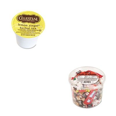 Kitgmt14732Ctofx00013 - Value Kit - Celestial Seasonings Lemon Zinger Herbal Tea K-Cups (Gmt14732Ct) And Office Snax Soft Amp;Amp; Chewy Mix (Ofx00013)