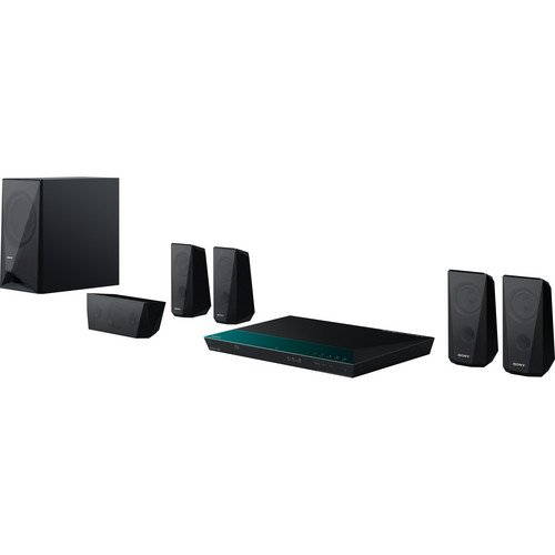 Sony 5.1 Channel 1000 Watts 3D Blu-ray DVD Surround Sound Home Theater System with Full HD 1080p, Built-in Wi-Fi, 2D to 3D Conversion, Bluetooth Wireless Streaming, Dolby TrueHD and DTS-HD Sound Modes, Front-Panel USB Port, HDMI output, FM Tuner, I/P Noise Reduction, Black Finish