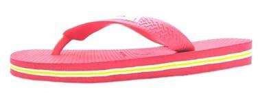 Size 41/42 Havaianas Girl's H Brasil Logo Synthetic Flip Flops