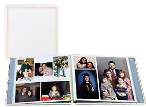 PRO ELITE White magnetic page post-bound album - 8x10