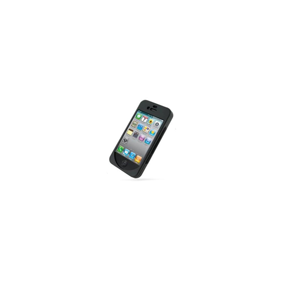 Metal Aluminium Hard Case (Open Screen Design) for Apple iPhone 4 (Black)
