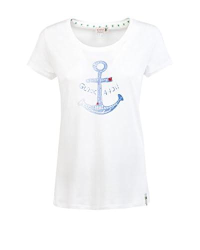 Adelheid T-Shirt Manica Corta Glück Ahoi Leibchen  [Bianco]