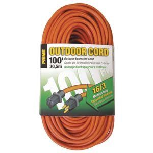 Amazon Com 100 Ft 16 3 Outdoor Extension Cord Home